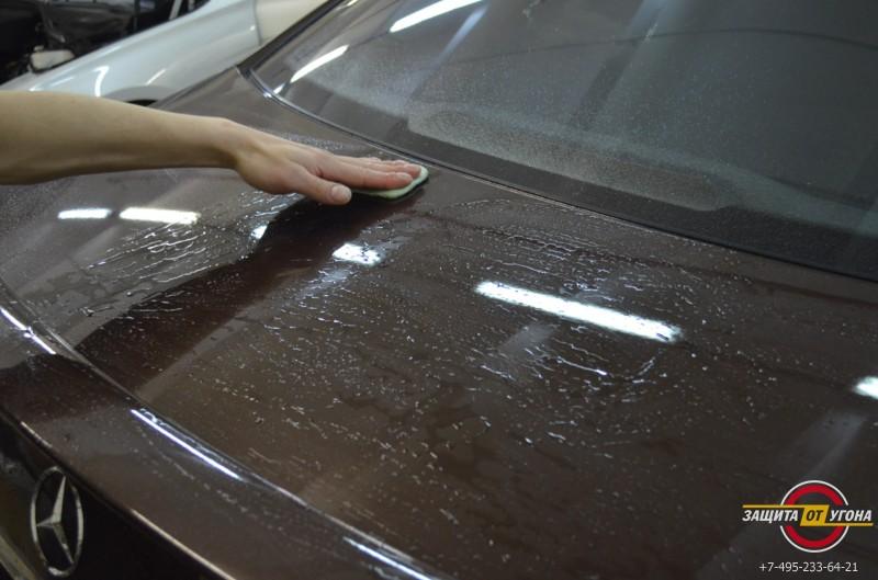 Полировка кузова и обработка Ceramic Pro на Mercedes S221