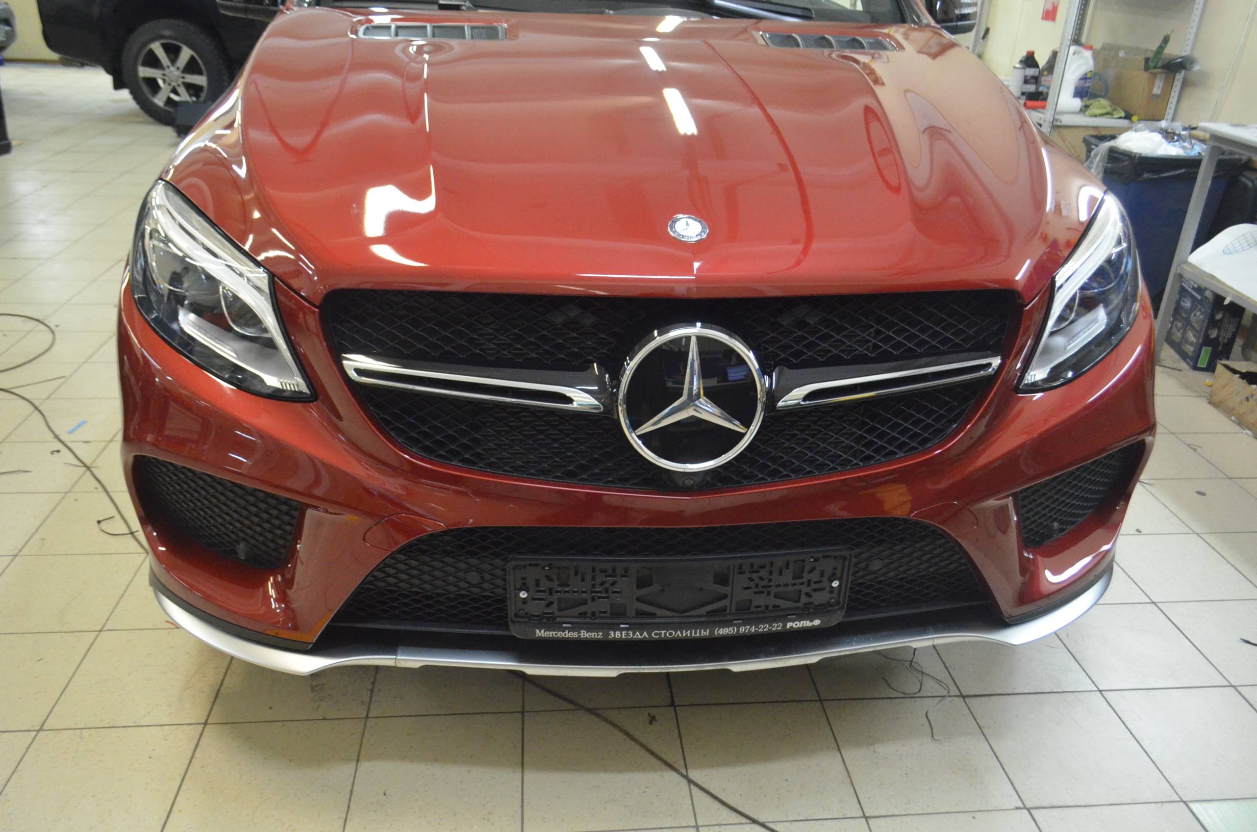 Полировка Керамик ПРО и покрытие антигравийной пленкой Mercedes GLE 450