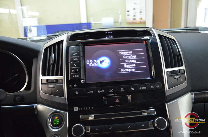 Навигация с пробками на штатный монитор Toyota LC200