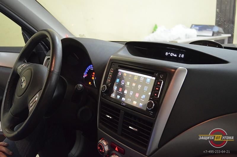 Штатное головное устройство Car4G Android на Subaru