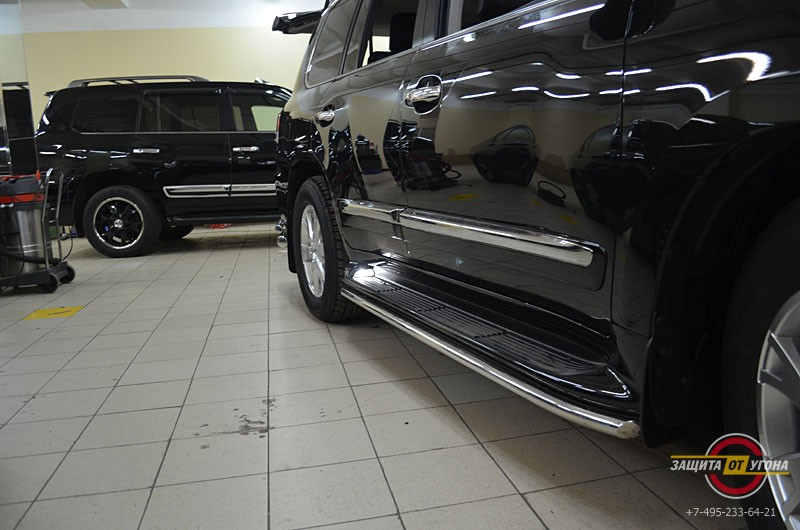Защита порогов Lexus LX 570
