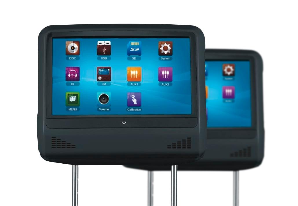 Пара 9-ти дюймовых подголовников ENVIX c мониторами и DVD