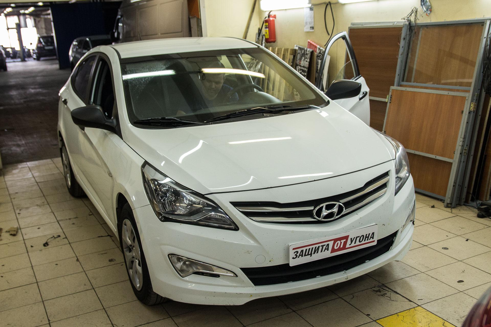 Установка Starline Mayak M17 на Hyundai Solaris