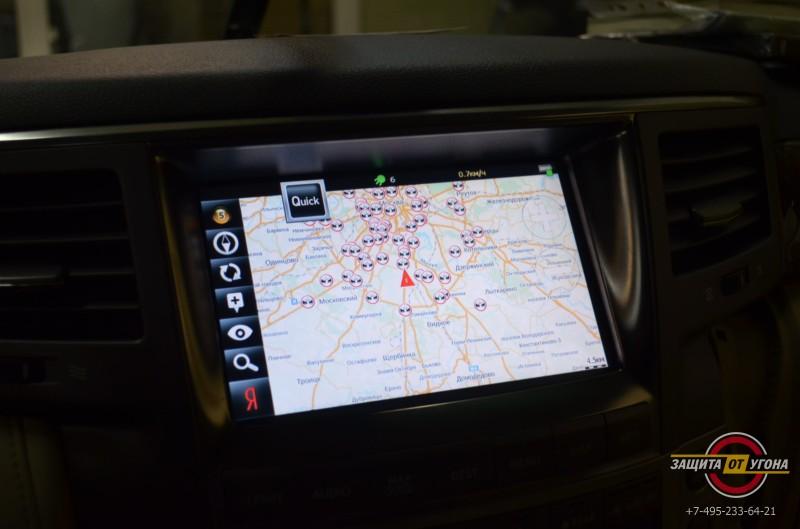 Навигация с пробками на Lexus LX570