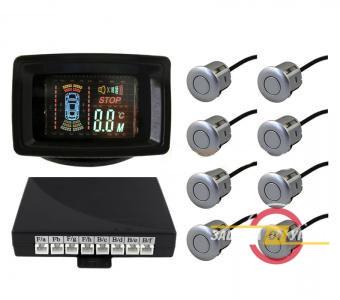 Парковочный радар Silver Star 4 датчика LCD-088