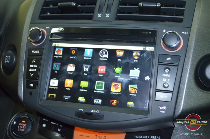 Штатное головное устройство Carsys Android на Rav4 2012
