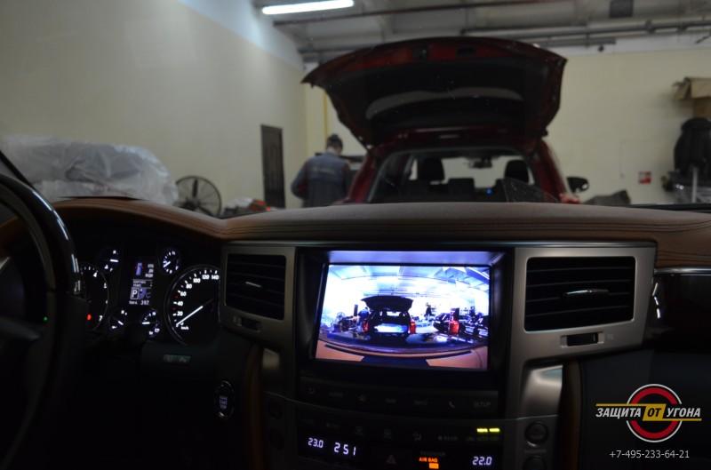 Телевизор и видеорегистрация на штатный монитор Lexus LX570