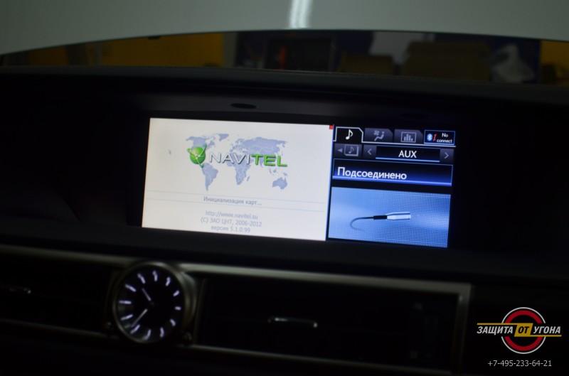 Установка цифрового тв и навигации с пробками на Lexus GS350 2013