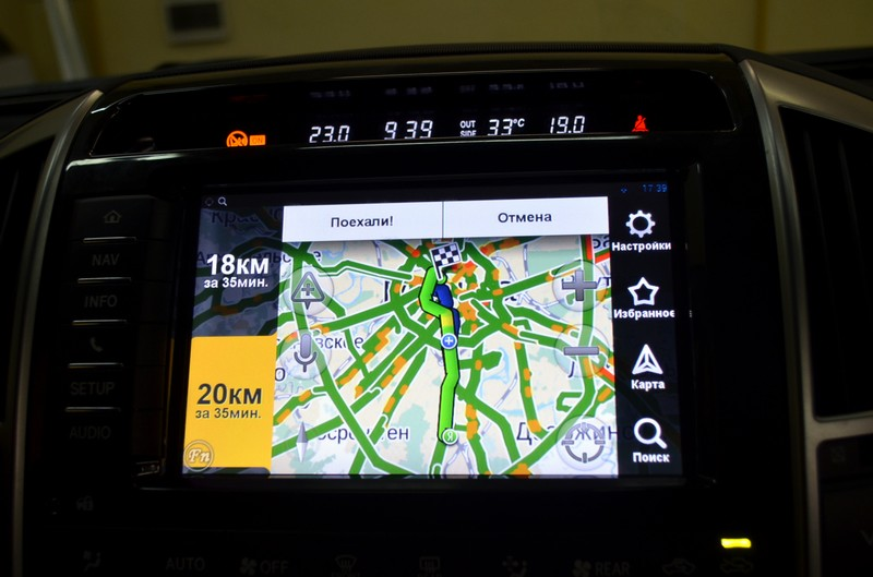 Яндекс навигация на штатный монитор