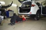 Установка парктроников для Toyota Rav 4