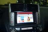 Навигация с пробками на штатный монитор Toyota LC150