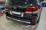 Защита заднего бампера уголки Lexus LX 570