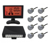 Парковочный радар Silver Star 8 датчиков LCD-058