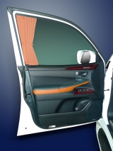 Шторки со складками на передние боковые двери