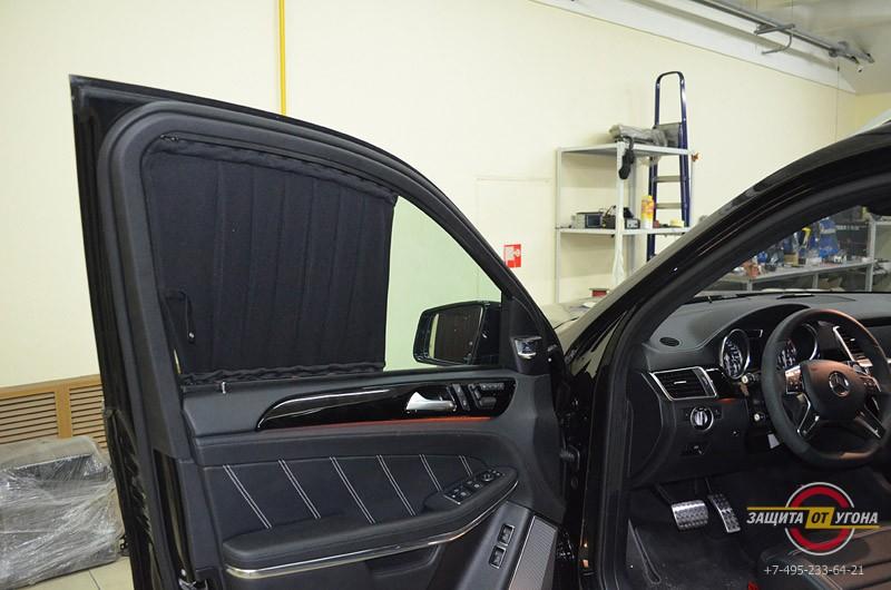 Передние шторки на Mercedes GL 63 AMG