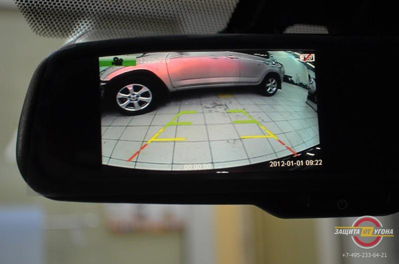 Зеркало с видеорегистратором и камерой заднего вида на Lexus IS250