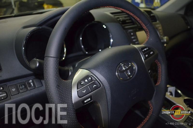 Перешив салона Кожей Наппа Toyota Highlander