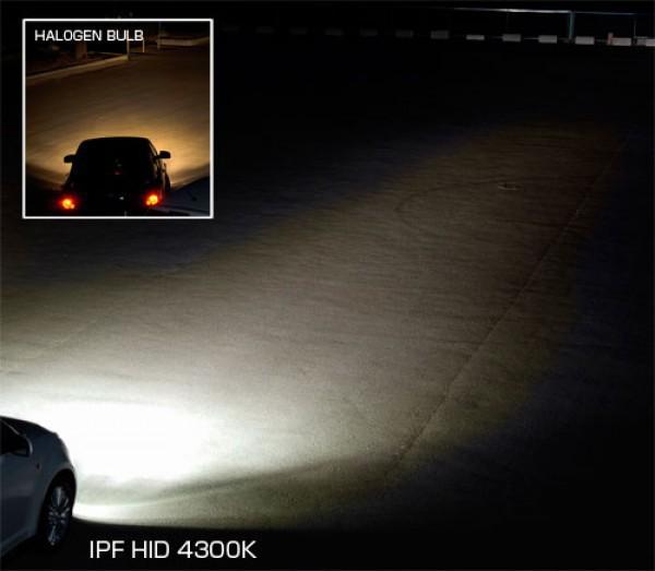 Комплект ксеноновых ламп IPF натуральный белый 4300K
