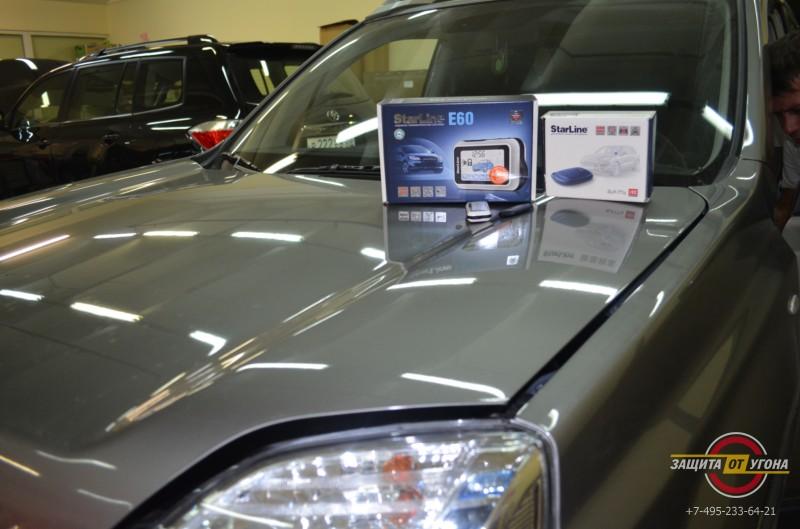 Установка Starline E60 и Starline I92 на Nissan XTrail
