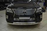 Защита переднего бампера и хромированная вставка в решетку радиатора Lexus LX 570
